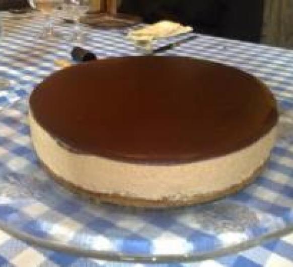 tarta mouse de dulce de leche.